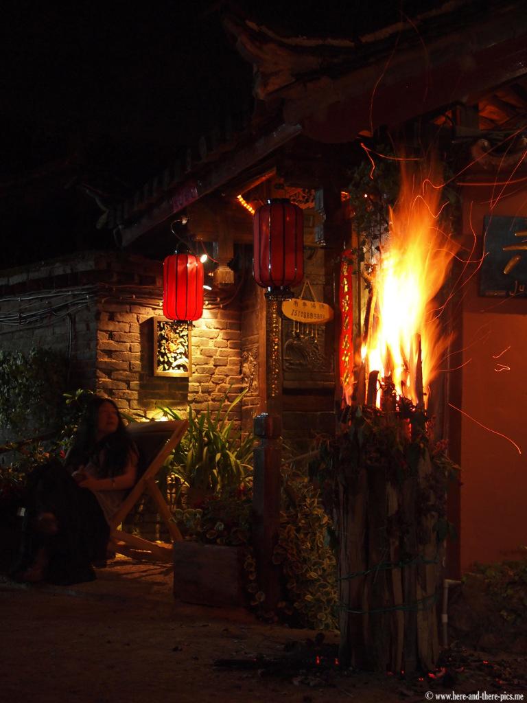 Lijiang by night, China