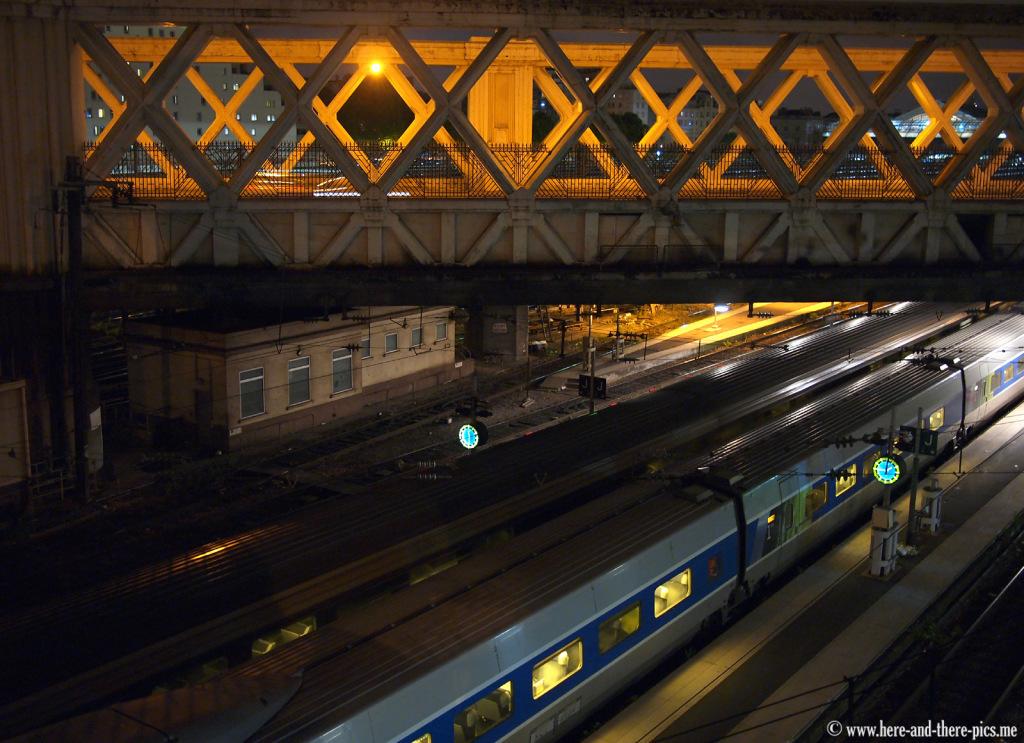 Gare de l'Est by night, Paris, France