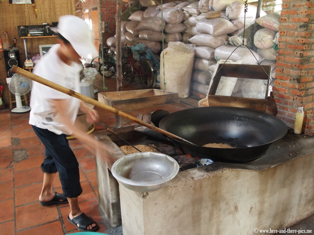 Making rice noodles, Mekong Delta, Vietnam