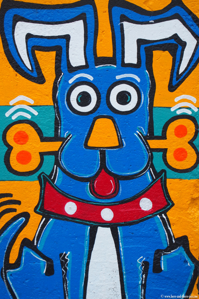 Graffiti on a piece of the Berlin wall