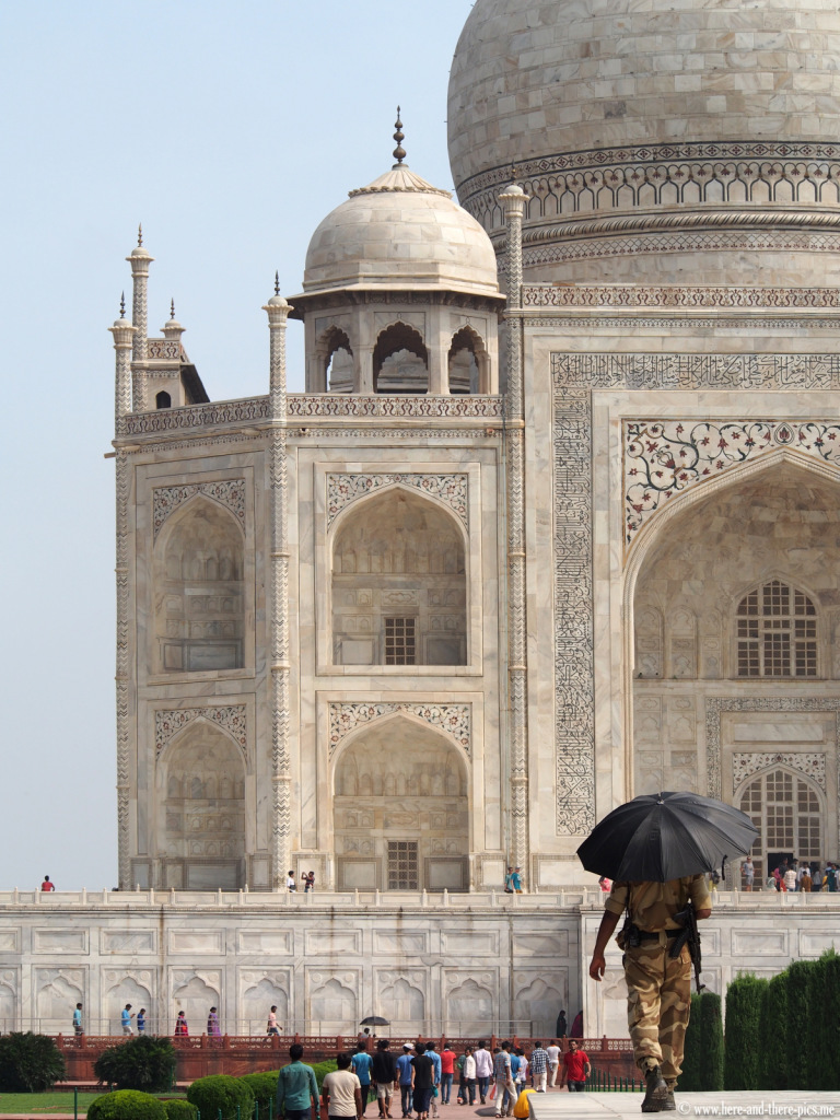 Taj Mahal in the Indian city of Agra
