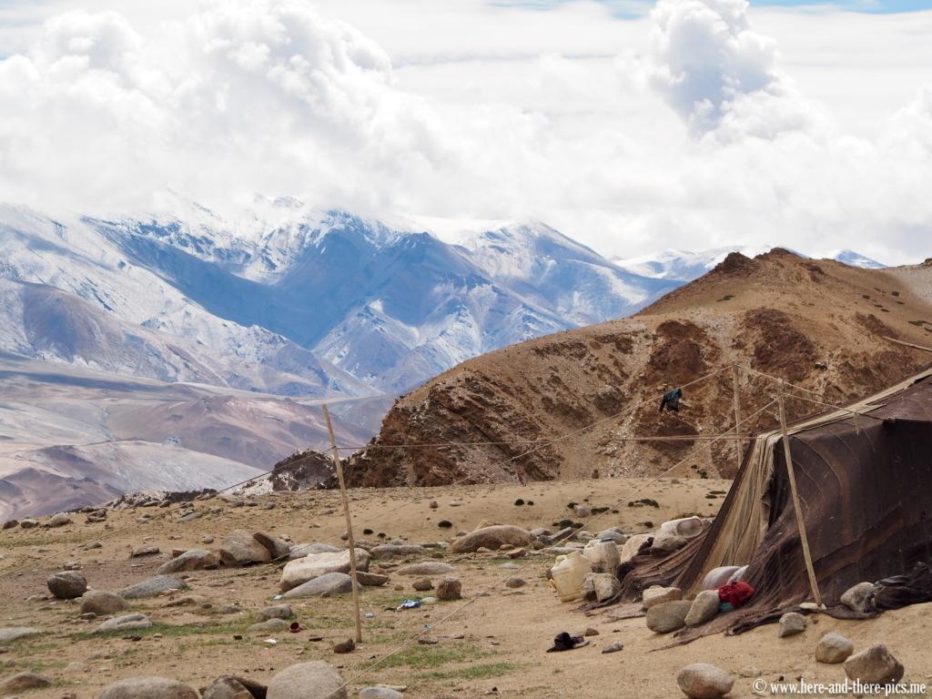 Nomadic tent in Korzok near Tso Moriri