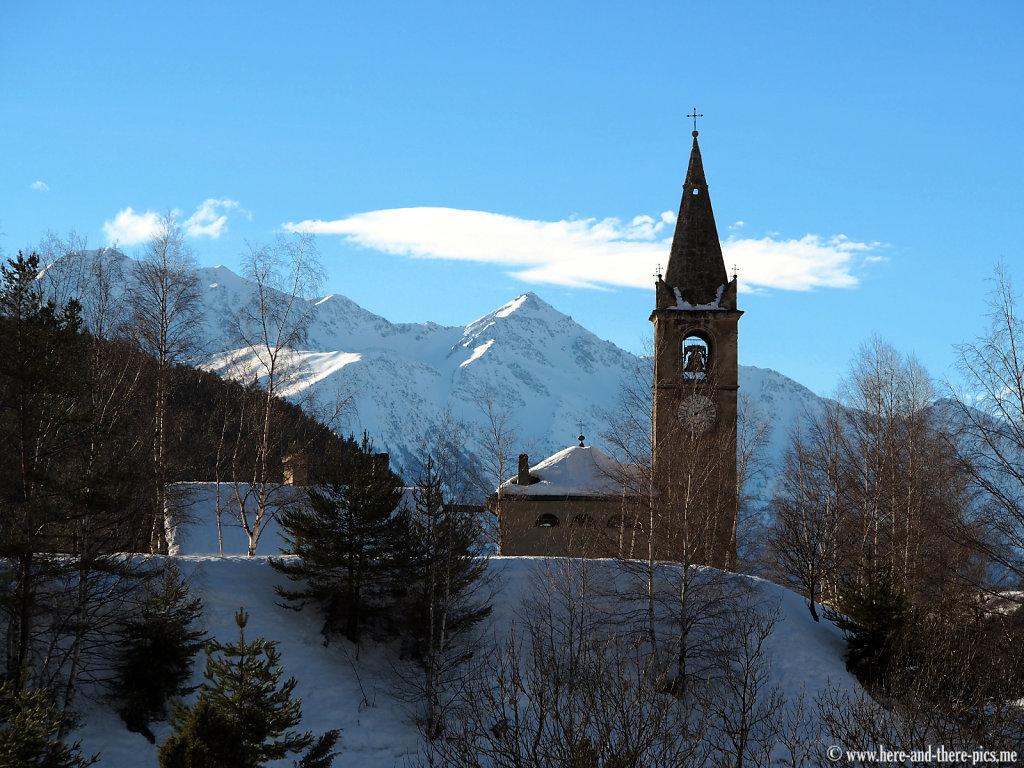 Church in the village of Bramans in Haute-Maurienne